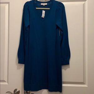 V neckline on this sweater dress by Loft